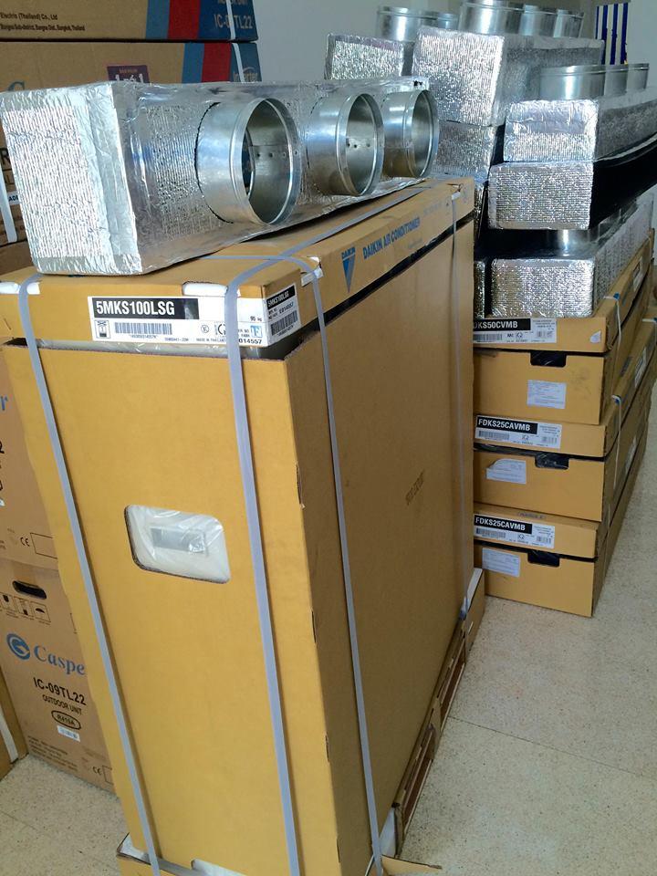 Thầu thi công máy lạnh giấu trần Daikin uy tín quận và Tp.HCM