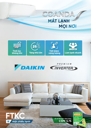 Máy lạnh treo tường Daikin FTKC - Inverter - Model 2019 - Giá rẻ